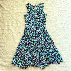 Cynthia Rowley Blue & Green Dress